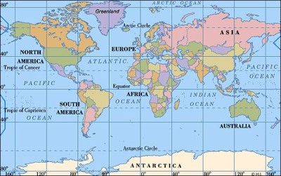 World Wide Removals - World map west